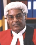 Chief Justice Simmons - Wants military to police Barbados