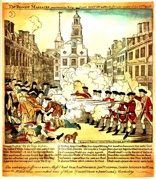 the events surrounding the boston massacre of 1776 Robert treat paine was born march 11, 1731 on school street the events surrounding the boston massacre were hugely influential when it came to the development of the colonial spirit and muskets and artillery in march 1776 paine published an article on saltpeter manufacture in the.