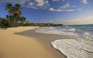 Beautiful Barbados beach... but no tourists!
