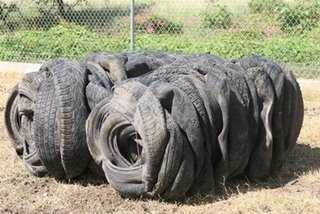 Tire Bales Are Only 5% Air - What Can We Build With Them?