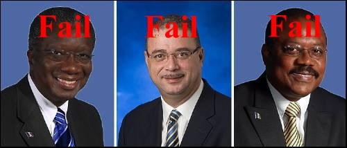 Attorney General Stuart, Prime Minister Thompson, Transport Minister Boyce