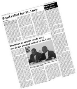 """Click the image to read the Barbados Advocate story """"Know Your Place Here!"""" at Ian Bourne's Bajan Reporter blog."""