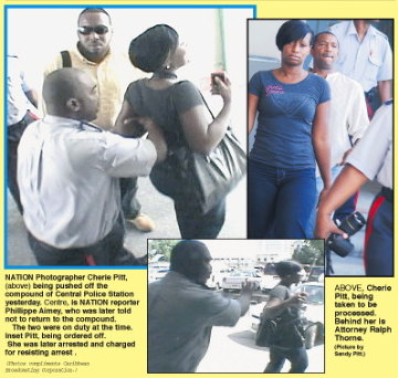 Barbados Police Thugs Again Assault Working Journalists
