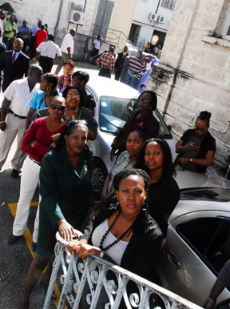 Barbados Media Fraternity Show Solidarity At Court
