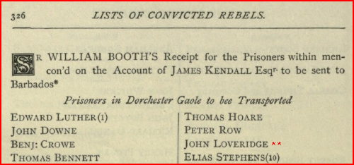 Click The Photo To View & Search The Lists Of Rebels Transported To Barbadoes And Other Places