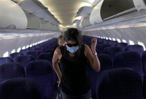 Swine Flu = Empty Airplanes