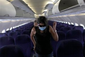 Swine Flu = Empty Airplanes