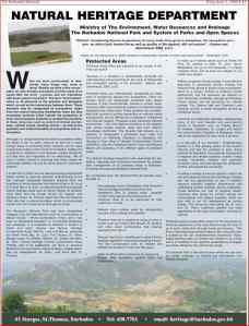 Click to read the deceptive Barbados Natural Heritage Advert