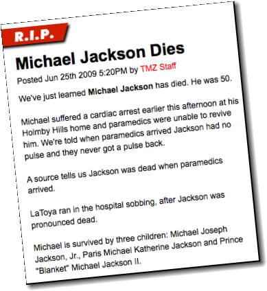 Michael Jackson Dead In LA