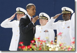 Obama Naval Academy Sword Insult