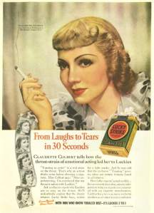 claudette colbert tobacco