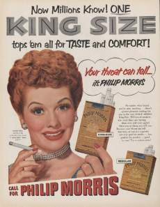 lucille ball cigarette