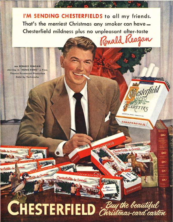 Reagan smoking