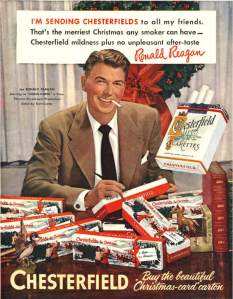 President Reagan Smoking
