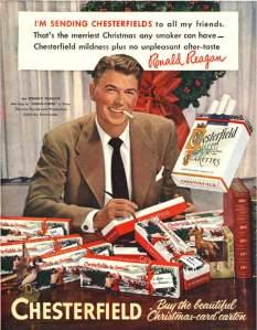 President Reagan Smoking