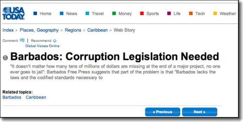 USA Today Corruption Barbados