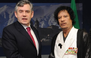 British PM Gordon Brown discussed Lockerbie terrorist's release with Gaddafi six weeks ago. Reminder: Years ago Gaddafi confessed Lybia's involvement in the Lockerbie 747 bombing.