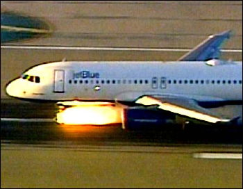 Everything ended just fine in September 2005 when a Jet Blue Airbus had a nosegear problem.