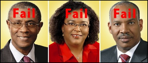 Former Transport Minister Gline Clark, Former Useless Attorneys General Mia Mottley & Dale Marshall