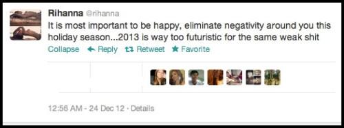 Rihanna Christmas 2012