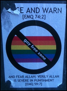 London: Muslim gay hate poster