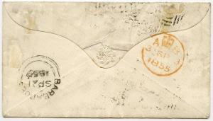 barbados letter 1855 back