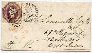 barbados letter 1855 front