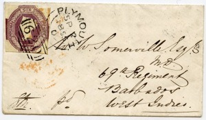 barbados letter 1855 front